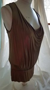 Antique gold tank with waistband.